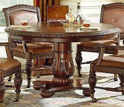 Round Wooden Dining Tables Contemporary Round Wooden Dining Table Set On Floral Rug Mixed