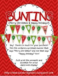 Merry Christmas Happy Holidays Bunting Banner