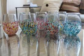 diy painted wine glasses photo 1
