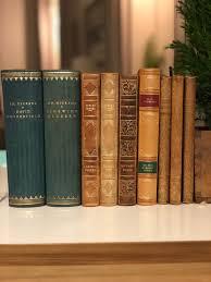 lot of vintage swedish books leather bound book grouping shelf decor classic books sweden scandinavian