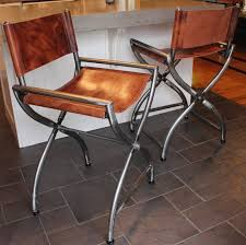folding metal directors chairs. directors chair wrapped in thick buffalo leather by creativebuild folding metal chairs