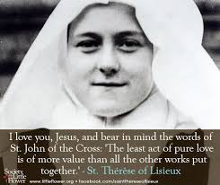 St Therese Of Lisieux Quotes 39 Inspiration 24 Best St Therese Images On Pinterest Catholic Catholic Prayers
