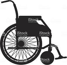 車椅子ブラックのシルエットベクトルイラスト アクセスしやすいの