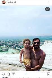 على معلول ينشر صور مع نجله على أحد الشواطئ بعد مد الإجازة - اليوم السابع