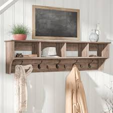 Wall Shelf Coat Rack Wall Mounted Coat Racks Wall Hangers You'll Love Wayfair 31