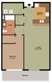 floor plan style m 1 bedroom apartment