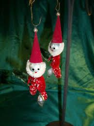 Details Zu Gablonzer Alter Christbaumschmuck Weihnachtskugeln 2 X Weihnachtsmann Figur
