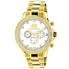 diamond watches for men 0 2ct yellow gold plated white mop liberty luxurman diamond watches for men 0 2ct yellow gold plated white mop liberty