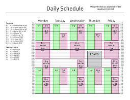 Schedule Calender Academic Daily Calendars Hendrix College