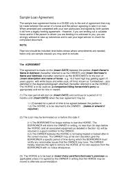 Bank Loan Agreement Sample Legal Concise Resume Template Contract