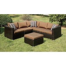 Outdoor Patio Sectional Sofas & Loveseats