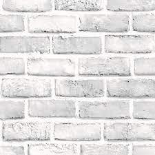 White Brick Wall Sticker 3D Brick Stone ...