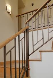 Metal Railing Staircase Best Modern Stair Ideas On Pinterest Model Rare  Photo