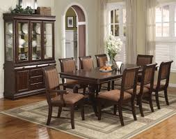 Formal Dining Room Sets For 8 Merlot 9 Piece Formal Dining Room Furniture Set Pedestal Table