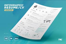 Infographic Resumecv Volume 6 Indesign Word Template By The