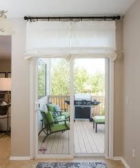 off white sliding glass door curtain