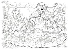 Disney Princess Coloring Pages Adult Free 6 K Beautiful 2 For Adults