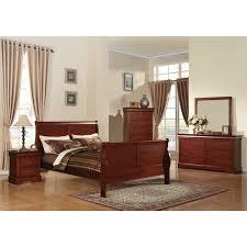 Great Acme Furniture Louis Philippe III 4 Piece Cherry Bedroom Set