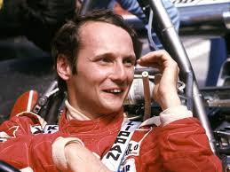 Niki Lauda beim Großen Preis von Spanien 1976 - bis dahin hatte er eine ...