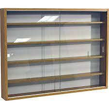 wall mounted bookshelves glass door