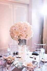 large round white flower wedding centerpiece