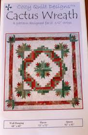 Cactus Wreath Pattern for Strips from Cozy Quilt Designs PT152 & 🔎zoom Adamdwight.com
