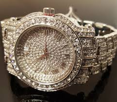 mens gold diamond watch men hip hop iced out white gold techno pave bling simulated diamond rapper watch