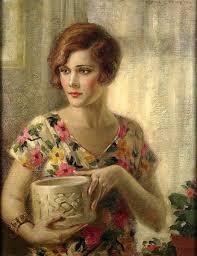 """Edna Crompton """"Flapper Girl In Flowered Dress"""" (With images) 