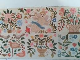 vintage claire murray the nantucket collection hooked rug kit forget me not44x22