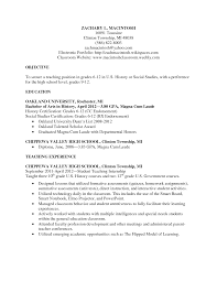 Cosy High School Teacher Resume Objective About High School