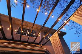 outdoor pergola lighting. Deck Decorating Ideas: Pergola With String Lights Outdoor Lighting