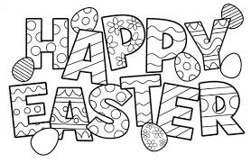 Free Happy Easter Coloring Pages Printable For Adults Eggs Bunny