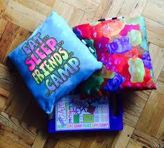confetti and friends bunk pillows accessories summer 365 girls camp sleepaway bedding