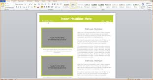 How To Make A Newsletter On Word 2010 Lv Crelegant Com