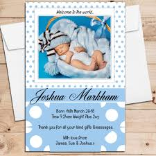 Print Baby Announcement Cards 10 Personalised Baby Boy Birth Announcement Thank You Photo Cards N12