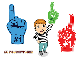 foam finger clipart. #1 foam finger - download free vector art, stock graphics \u0026 images clipart