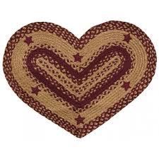 new wine star heart rug