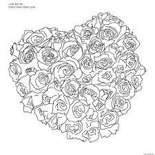 Coloriage Mandala Rose Coeur Dessin