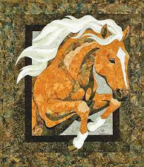 Horse Quilt Pattern Fascinating Royal Horse Bigfork Bay Toni Whitney Quilt Pattern NEW EBay