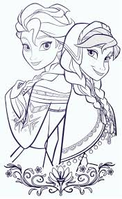 Frozen Coloring Sheets Elsa And Anna