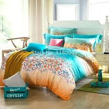 orange duvet cover king fl ocean brand new green and orange bedding set 4 style duvet orange duvet cover
