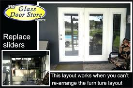 french doors to replace sliders sliding glass with garden