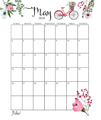 2019 Calendar Printable By Month Cute 2019 Calendar Printable Month Calendarmay 2019 Calendar Example