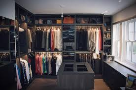 closet room. Dark Walk In Wardrobe Made From Combination Of Leather And Wood Closet Room
