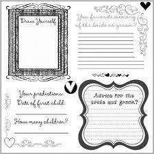 wedding guest book pages found on diy weddingbee