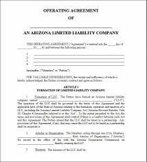 Arizona Llc Operating Agreement Template - Schreibercrimewatch.org