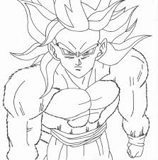 Dragon Ball Z Coloring Pages Goku Super Saiyan 3 Yishangbaicom