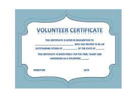 Certificate Of Appreciation Volunteer Work 50 Free Volunteering Certificates Printable Templates