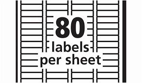 80 Labels Per Sheet Template Dim A Avery Return Address Labels 80 Per Sheet Template Lavanc Org