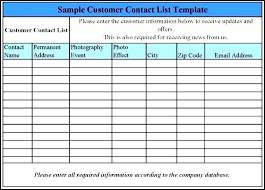 client contact list template employee contact list template company excel staff phone customer